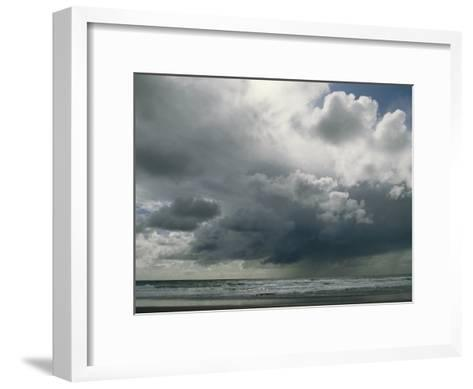 Dramatic Storm Clouds over Ocean Water-Charles Kogod-Framed Art Print