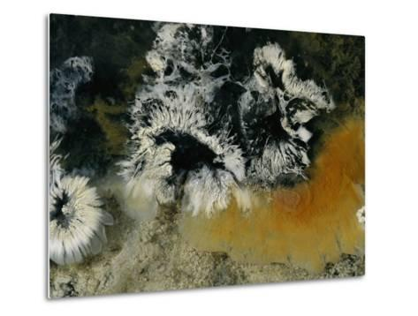 Colonies of Filamentous Bacteria in an Uzon Hot Spring-Peter Carsten-Metal Print