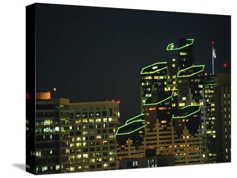 San Diego High Rises Brightly Lit at Night-Karen Kasmauski-Stretched Canvas Print