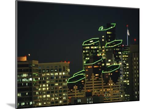 San Diego High Rises Brightly Lit at Night-Karen Kasmauski-Mounted Photographic Print