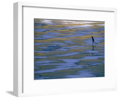 Woman Skating on the Ice at Mcphee Reservoir-Kate Thompson-Framed Art Print