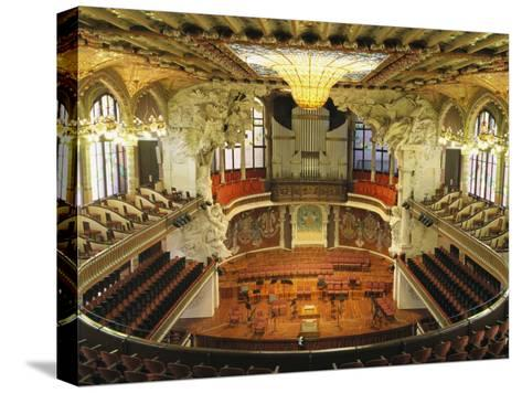 Interior View of an Ornate Orchestra House-Richard Nowitz-Stretched Canvas Print