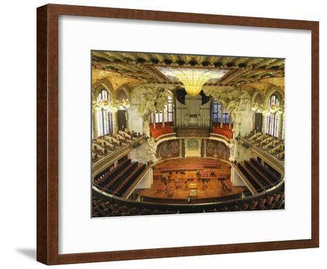 Interior View of an Ornate Orchestra House-Richard Nowitz-Framed Art Print