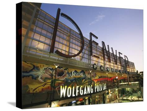 Twilight View of the Denver Pavilions Mall-Richard Nowitz-Stretched Canvas Print