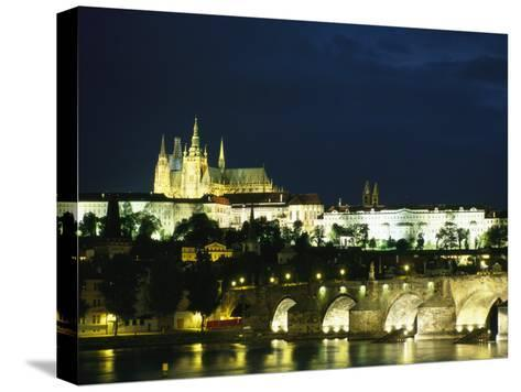 Evening View of the Skyline of Old Prague-Taylor S^ Kennedy-Stretched Canvas Print