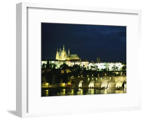 Evening View of the Skyline of Old Prague-Taylor S^ Kennedy-Framed Art Print
