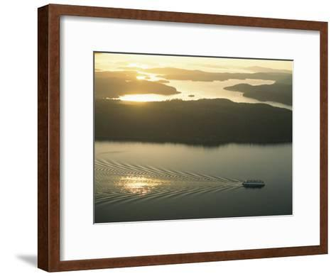 Ferry Travels the Waterways of the San Juan Islands-Phil Schermeister-Framed Art Print