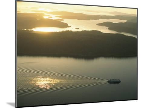 Ferry Travels the Waterways of the San Juan Islands-Phil Schermeister-Mounted Photographic Print