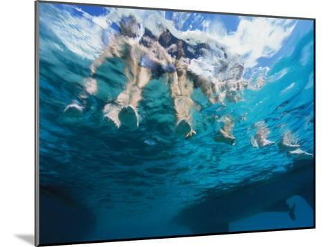 Boaters Dangle Their Feet in the Caribbean Sea-Heather Perry-Mounted Photographic Print