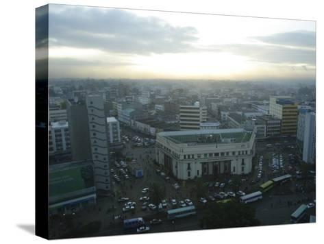 A View of Nairobi is Shown from the Hilton Hotel-Stephen Alvarez-Stretched Canvas Print