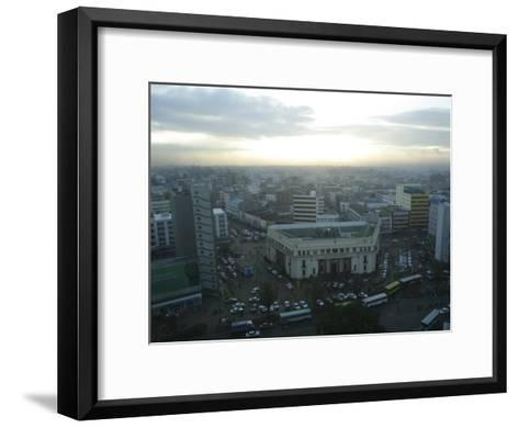 A View of Nairobi is Shown from the Hilton Hotel-Stephen Alvarez-Framed Art Print