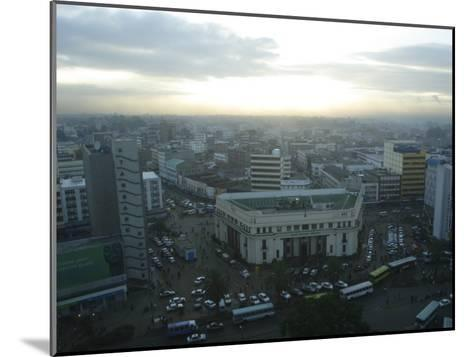 A View of Nairobi is Shown from the Hilton Hotel-Stephen Alvarez-Mounted Photographic Print