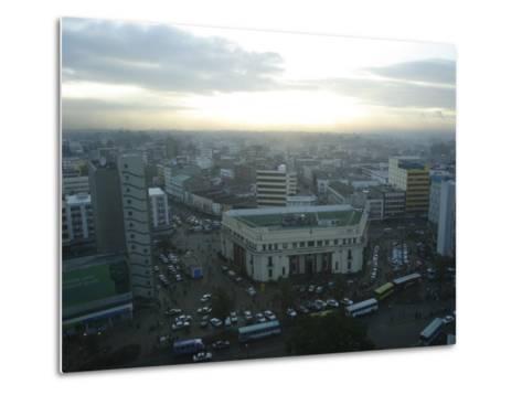 A View of Nairobi is Shown from the Hilton Hotel-Stephen Alvarez-Metal Print
