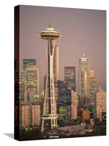 The Space Needle Dominates the Seattle Skyline-Richard Nowitz-Stretched Canvas Print