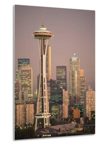 The Space Needle Dominates the Seattle Skyline-Richard Nowitz-Metal Print