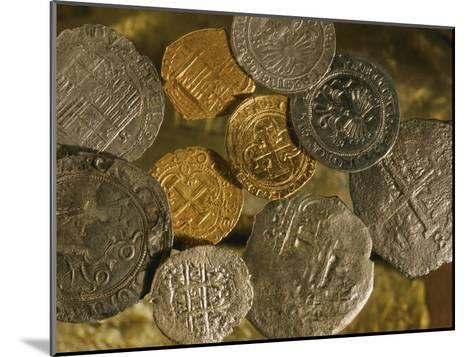 Gold and Silver Coins Minted in Both Spain and the Colonies-Ira Block-Mounted Photographic Print