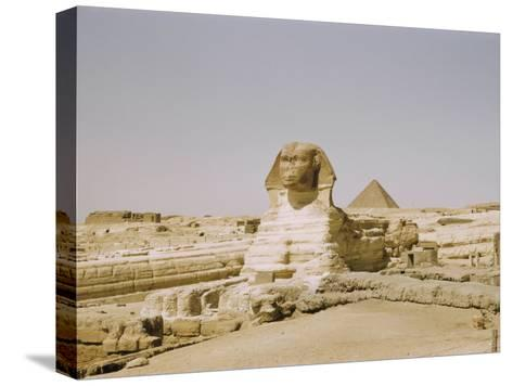Traditional View of the Great Sphinx at Giza-Joseph Baylor Roberts-Stretched Canvas Print