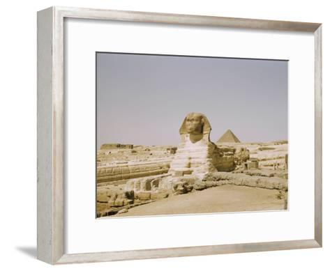 Traditional View of the Great Sphinx at Giza-Joseph Baylor Roberts-Framed Art Print