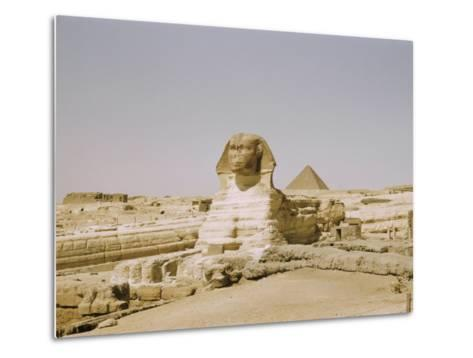 Traditional View of the Great Sphinx at Giza-Joseph Baylor Roberts-Metal Print