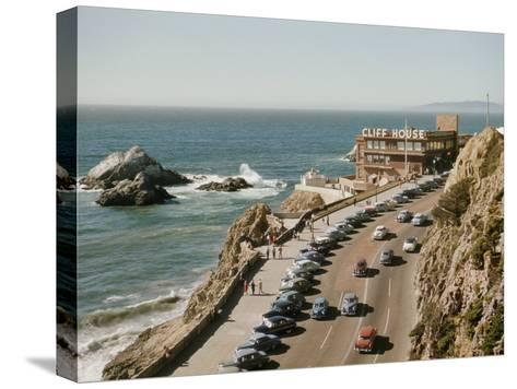 World Famous Cliff House Restaurant as Seen from Sutro Heights-Joseph Baylor Roberts-Stretched Canvas Print