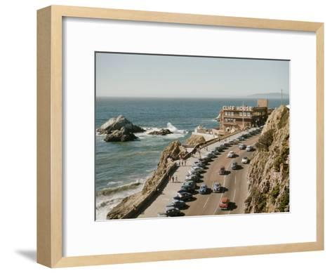 World Famous Cliff House Restaurant as Seen from Sutro Heights-Joseph Baylor Roberts-Framed Art Print