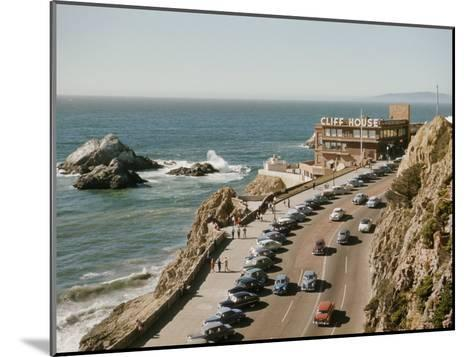 World Famous Cliff House Restaurant as Seen from Sutro Heights-Joseph Baylor Roberts-Mounted Photographic Print
