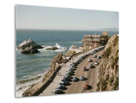 World Famous Cliff House Restaurant as Seen from Sutro Heights-Joseph Baylor Roberts-Metal Print