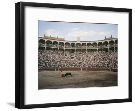 A Bullfight in Madrid-Walter Meayers Edwards-Framed Art Print