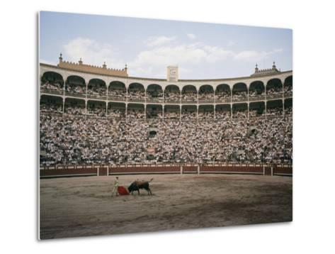 A Bullfight in Madrid-Walter Meayers Edwards-Metal Print
