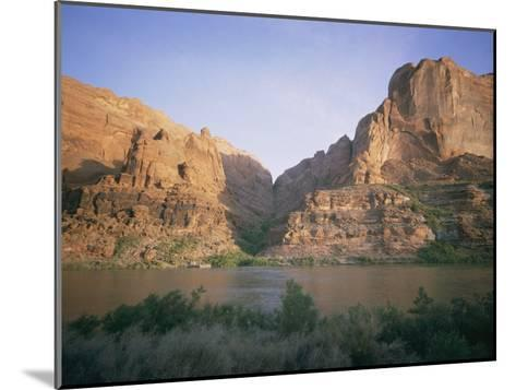 The Colorado River Flows Past Hole-In-The-Rock-Walter Meayers Edwards-Mounted Photographic Print