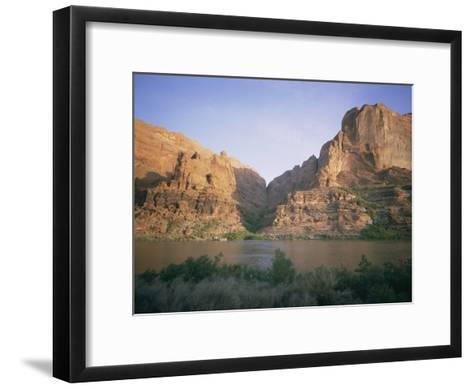 The Colorado River Flows Past Hole-In-The-Rock-Walter Meayers Edwards-Framed Art Print