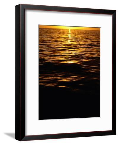 The Setting Sun Reflects onto the Waves-Heather Perry-Framed Art Print