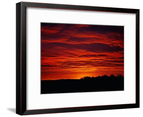 A Sunrise Bathes the Clouds in a Red Glow-Heather Perry-Framed Art Print