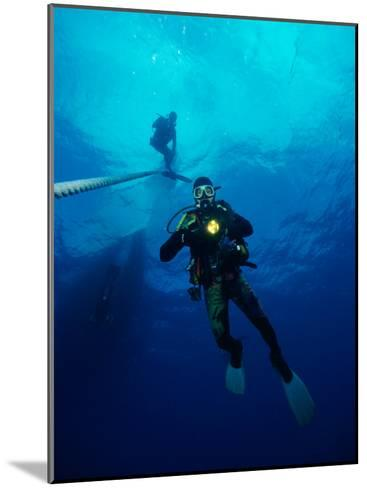 Divers in Chuuk (Formerly Truk) Lagoon-Heather Perry-Mounted Photographic Print