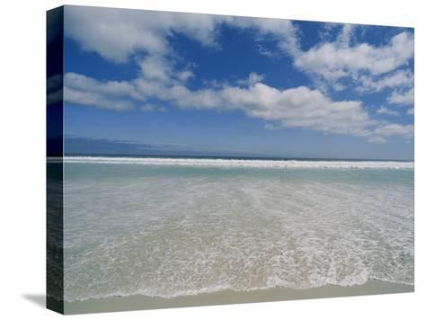 The Aqua Blue Clear Waters of the Atlantic Roll onto This Massive Beach at Kommethie-Stacy Gold-Stretched Canvas Print