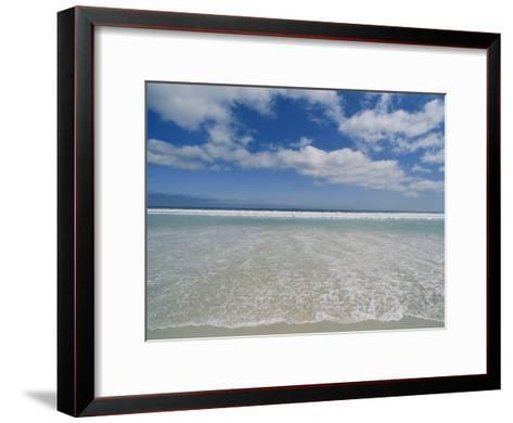 The Aqua Blue Clear Waters of the Atlantic Roll onto This Massive Beach at Kommethie-Stacy Gold-Framed Art Print