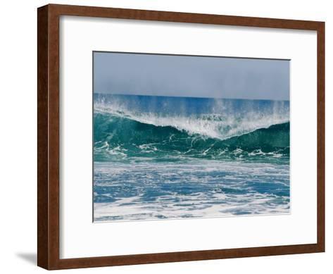 The Surf Crashes on the Australian Shoreline Near Kalbarri-Bill Ellzey-Framed Art Print