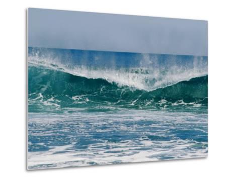 The Surf Crashes on the Australian Shoreline Near Kalbarri-Bill Ellzey-Metal Print