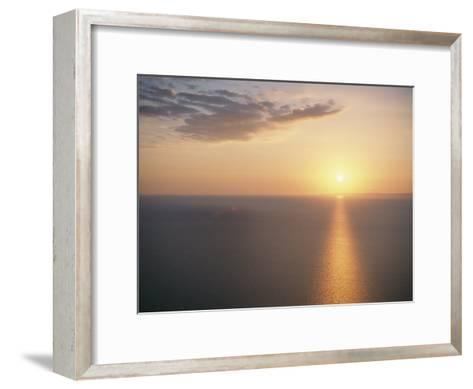 The Sun Sets over Lake Superior-Raymond Gehman-Framed Art Print
