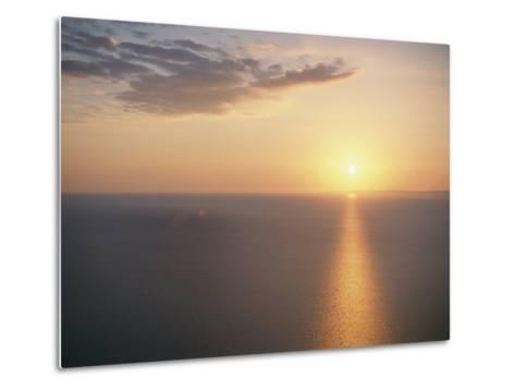 The Sun Sets over Lake Superior-Raymond Gehman-Metal Print