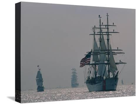The United States Coast Guard Ship Eagle with Several Other Sailing Ships-Medford Taylor-Stretched Canvas Print
