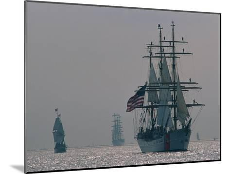 The United States Coast Guard Ship Eagle with Several Other Sailing Ships-Medford Taylor-Mounted Photographic Print