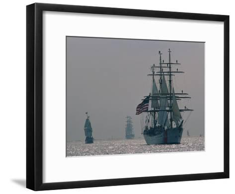 The United States Coast Guard Ship Eagle with Several Other Sailing Ships-Medford Taylor-Framed Art Print