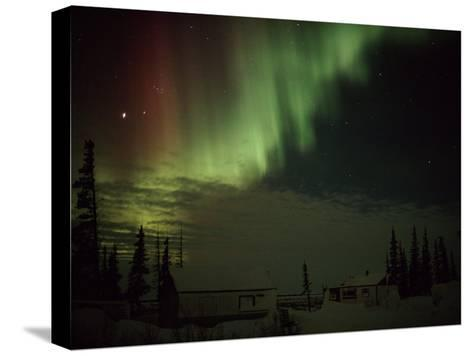 The Aurora Borealis Streaks Down Across the Night Sky-Norbert Rosing-Stretched Canvas Print