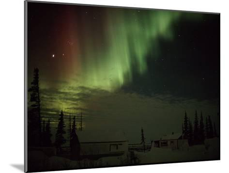 The Aurora Borealis Streaks Down Across the Night Sky-Norbert Rosing-Mounted Photographic Print