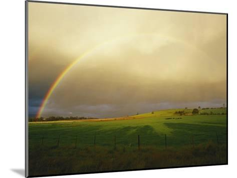 A Rainbow Appears over the Landscape-Jason Edwards-Mounted Photographic Print