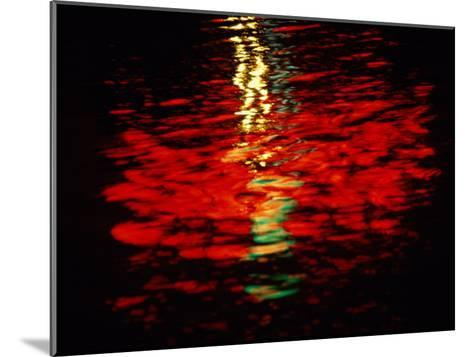 Light Reflected in the Water at Night-Raymond Gehman-Mounted Photographic Print