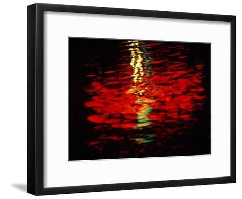 Light Reflected in the Water at Night-Raymond Gehman-Framed Art Print