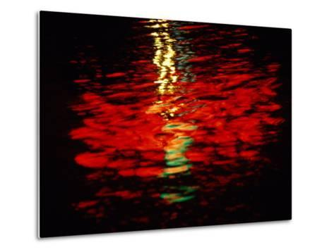 Light Reflected in the Water at Night-Raymond Gehman-Metal Print