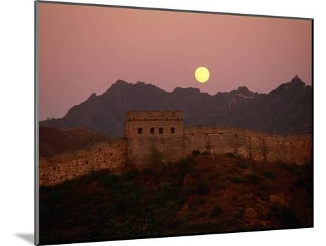 Moonrise over the Great Wall-Raymond Gehman-Mounted Photographic Print
